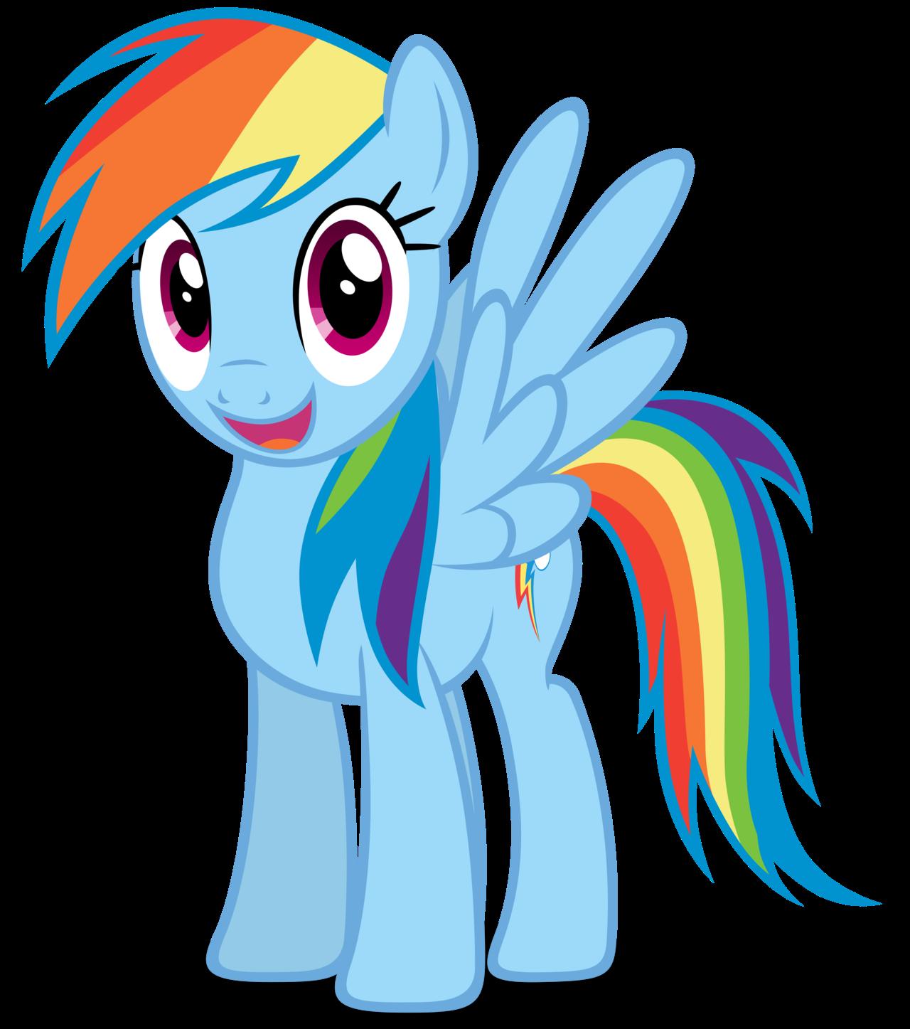 картинки пони рейнбоу дэш делает свою