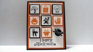 Stampin' Up Spooky Bingo Bits Halloween Card