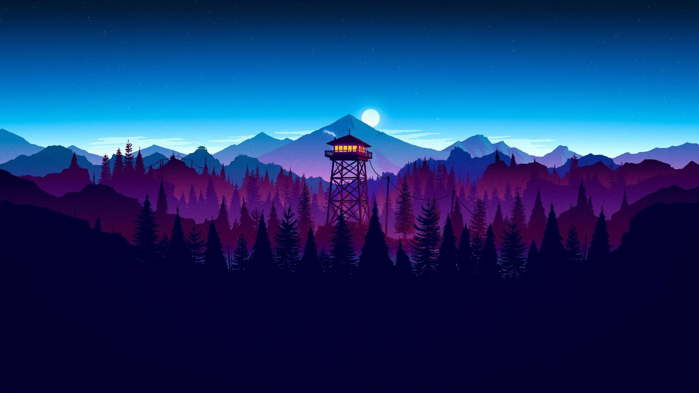 Download Firewatch Night Wallpaper By Leingrad 23 Free On Zedge Now Browse Millions Of Popular Firewat In 2020 Sunset Artwork Digital Wallpaper Gaming Wallpapers