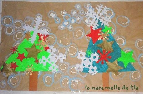 Decoration murale noel maternelle