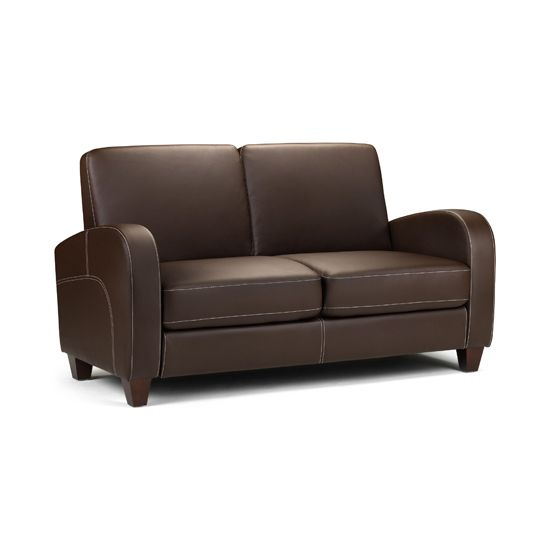 vivo 2 seater sofa in chestnut faux leather DESIGN CHAIRS