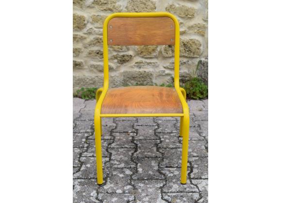 chaise annees 80 metal bois