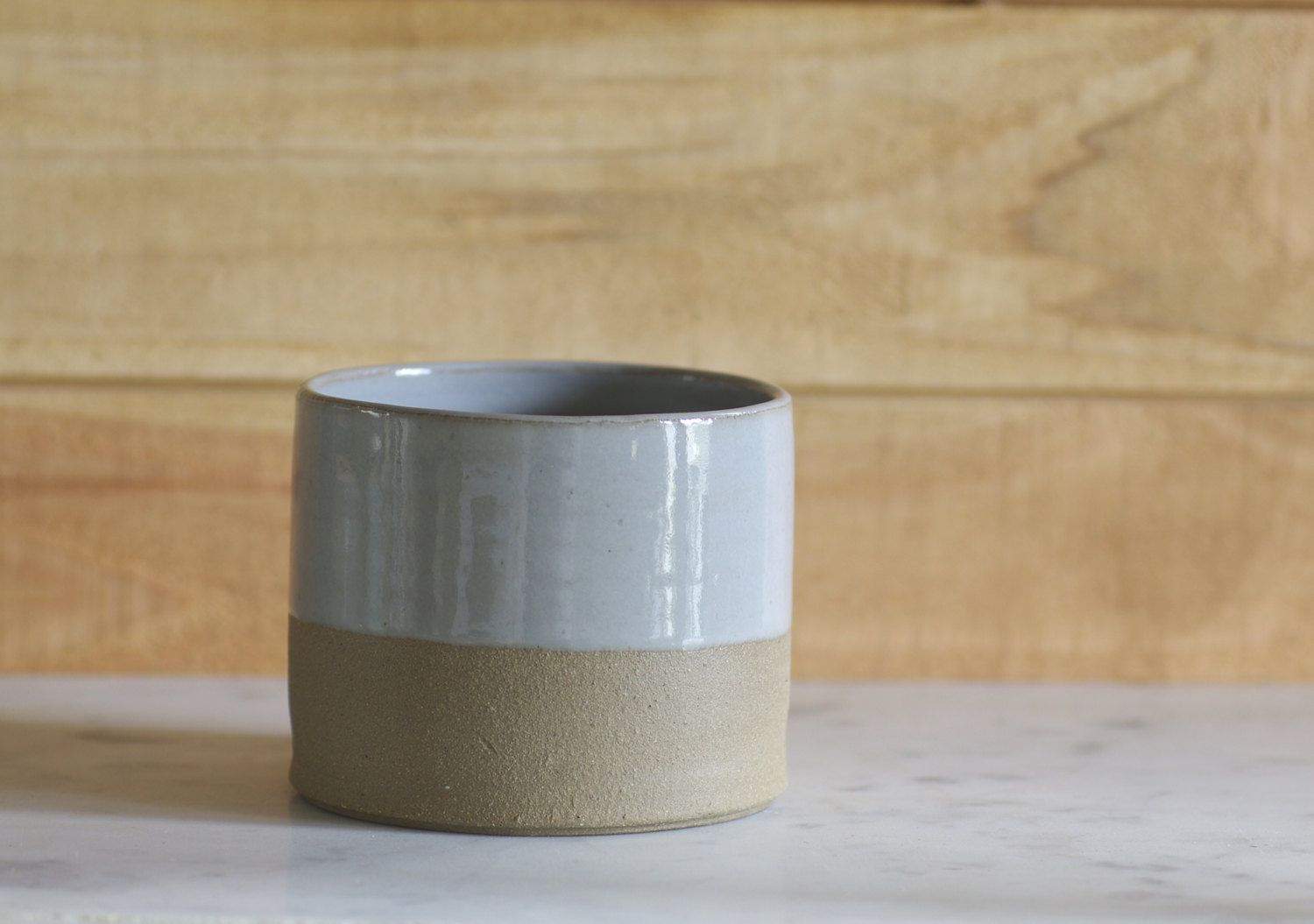 modern cup grey stoneware with grey glaze minimal rustic simple ceramic.via Etsy.