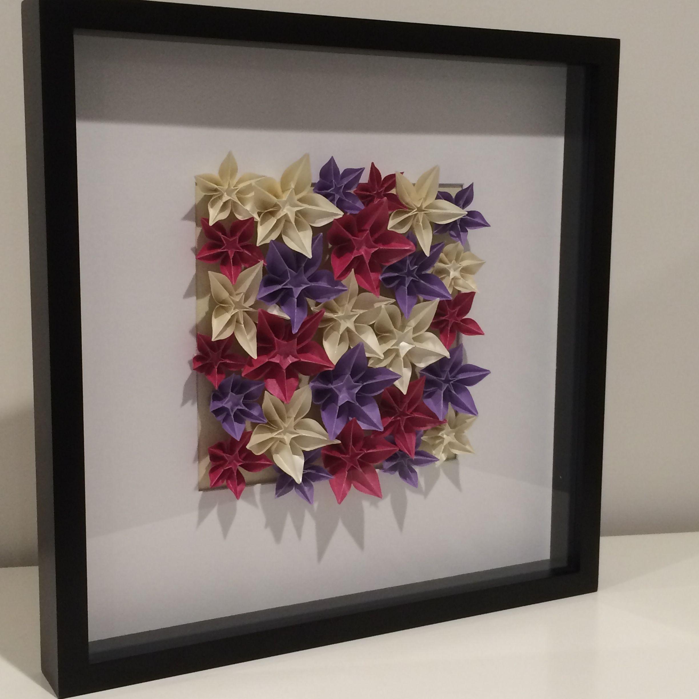 Origami Carambola Flowers In A Black Frame Order Via Facebook