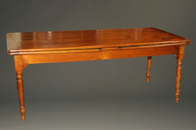 Early 19th Century French Draw Leaf Harvest Table Made In Cherry, Circa  1840. When
