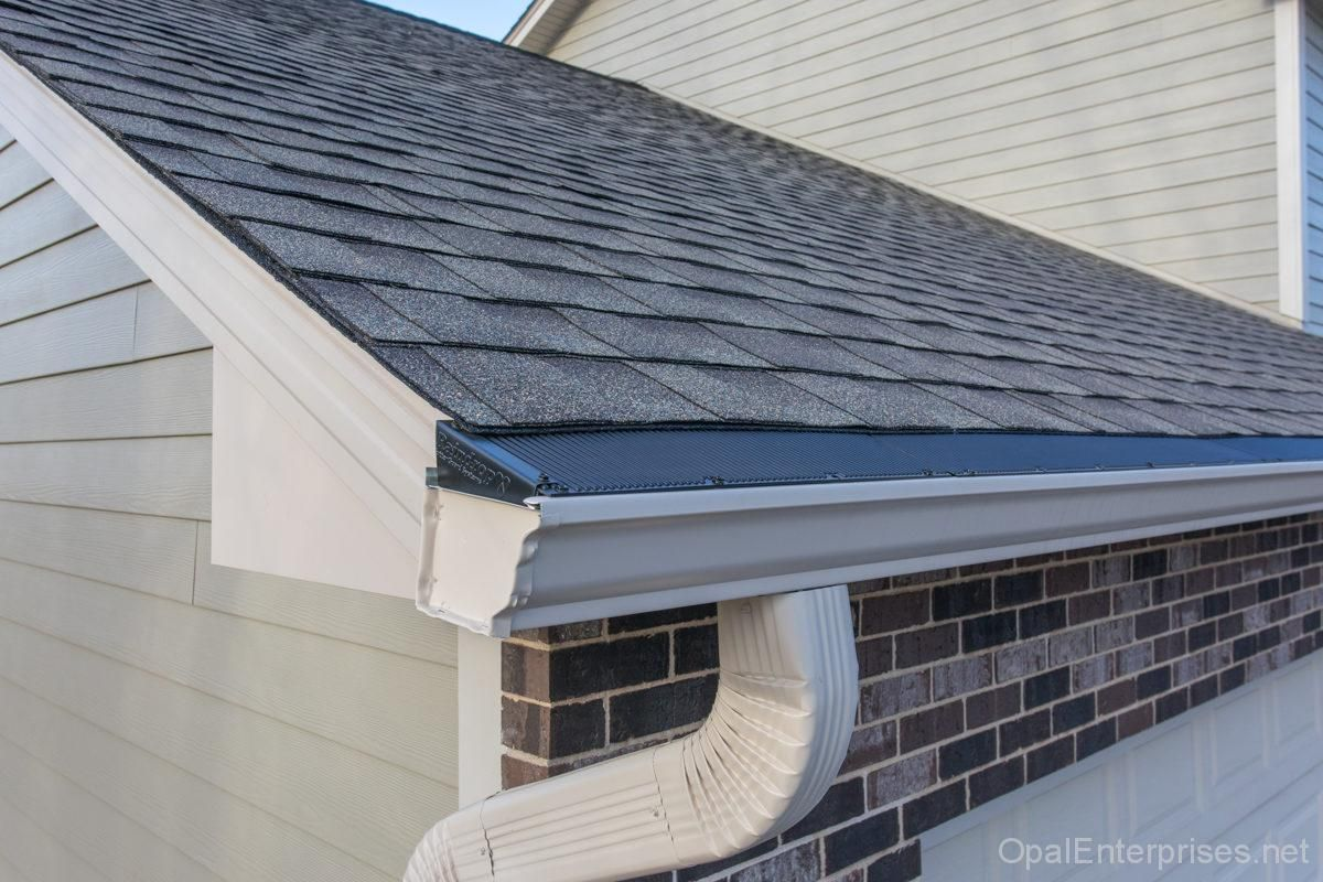 Gaf Timbertex Hd Roofing Shingles With Raindrop Gutter Guards Exterior House Renovation House Exterior Roof Shingles