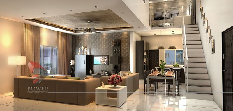 Wonderful 3D House Interior Design Rendering   3D Power