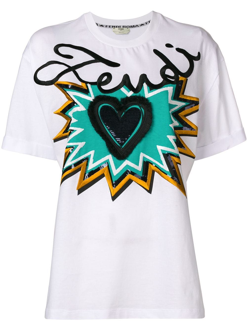 11be4542f03fb Fendi Logo Motif T-shirt