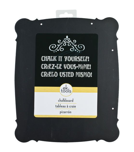 """Chalk It Yourself! Die-Cut Chalk Chipboard Shape-Large Rounded Rectangle, 9""""X11"""""""