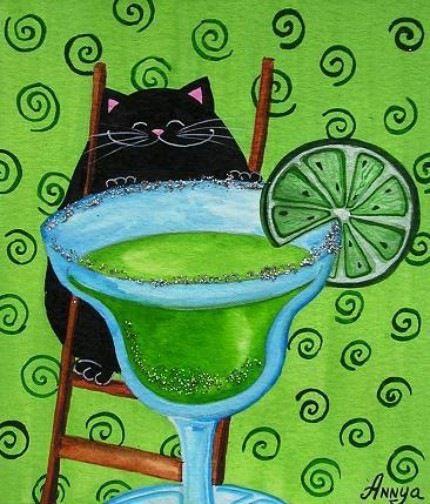 Цветные будни чёрного кота - Ярмарка Мастеров - ручная работа, handmade