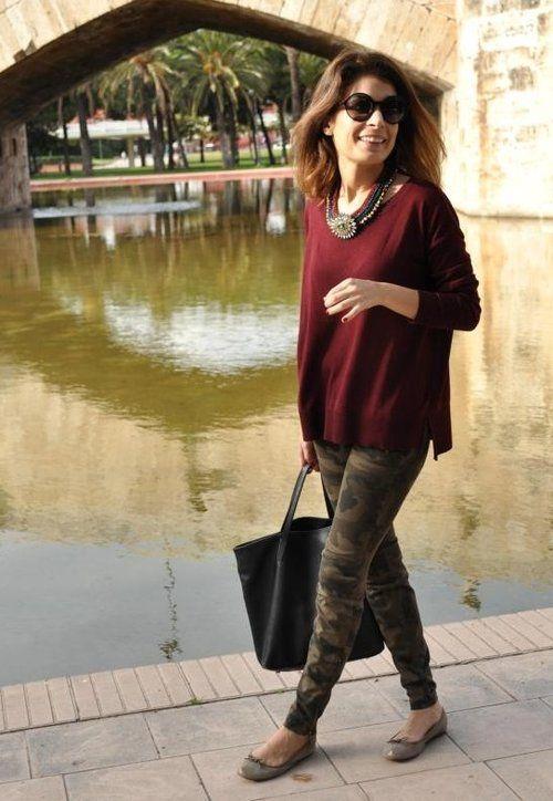 H  Sweaters, Zara  Pants and Bimba & Lola  Flats