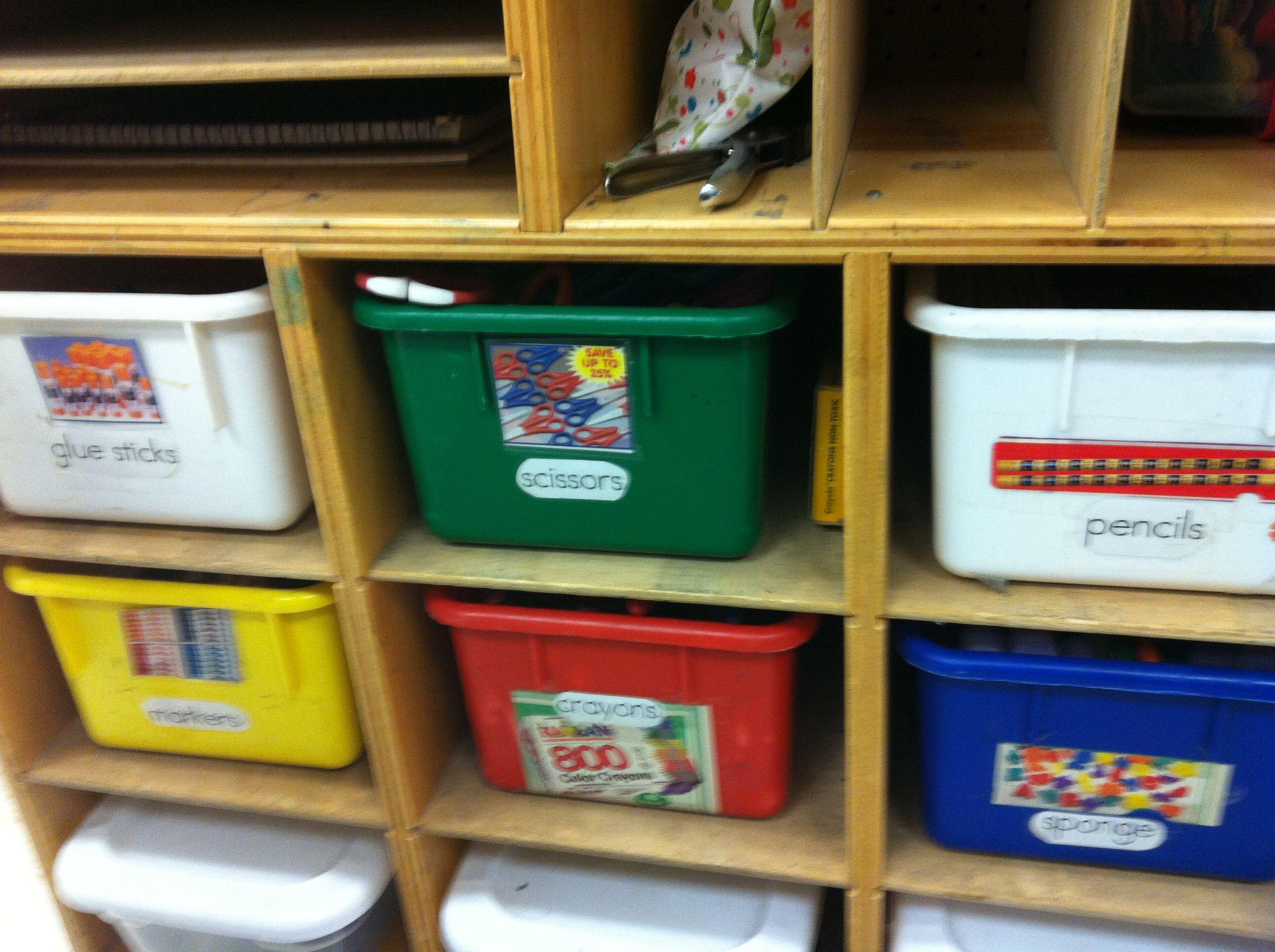 Prek Classroom Art Center Bookshelf Labels