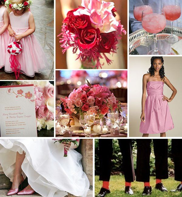Wedding Colours Red And Pink