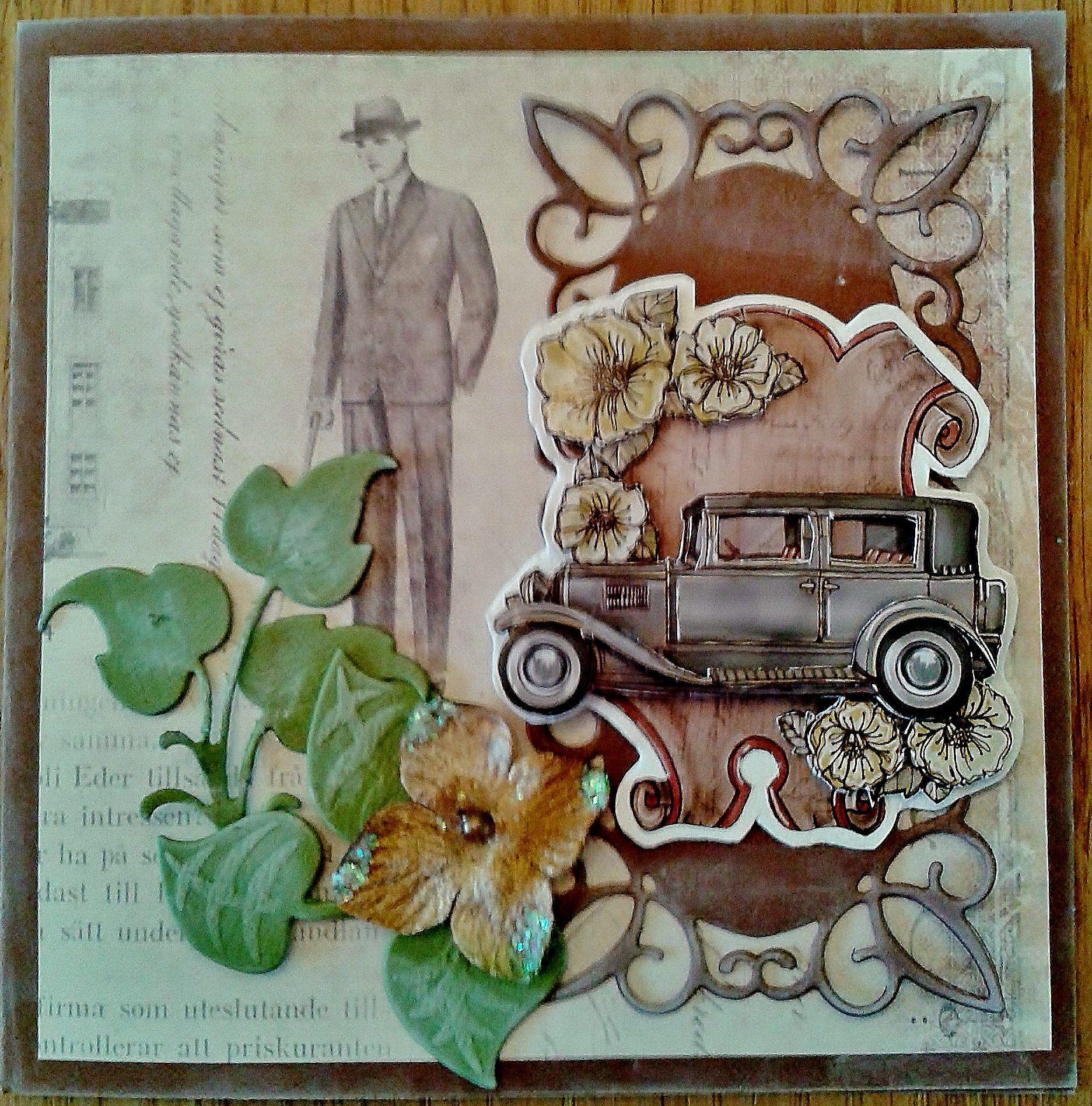 vintage kaart-Yvonne's Creation plaatje