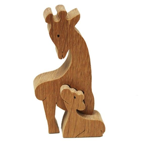 Wooden deer with her baby...