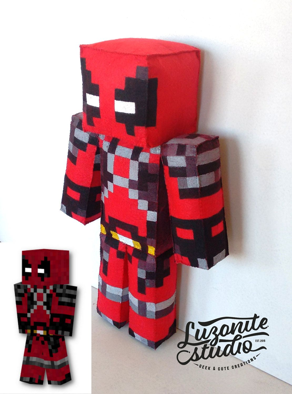 Handmade Minecraft custom skin teddy Handmade, Homemade