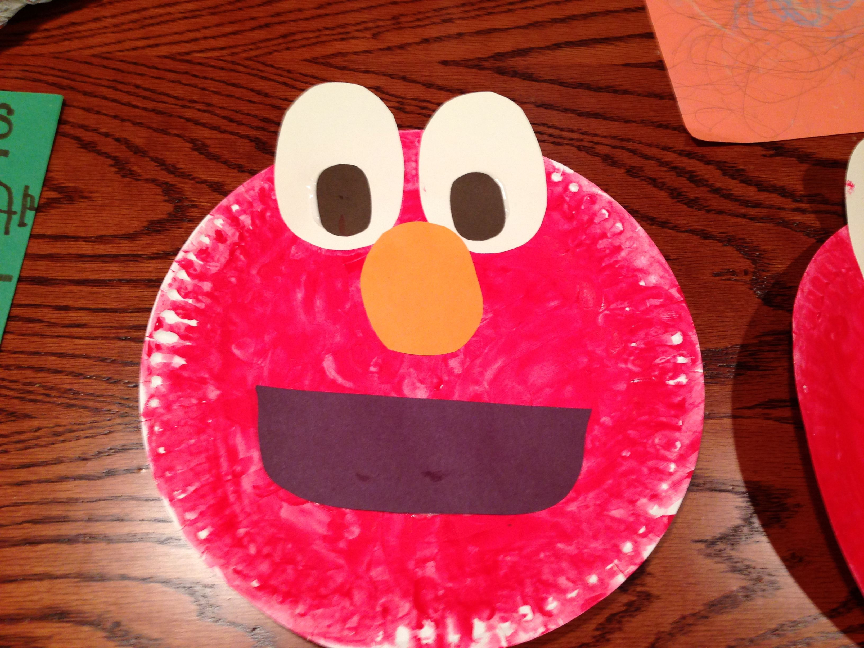 Paper plate Elmo! & Paper plate Elmo! | Art projects | Pinterest | Discover more ideas ...
