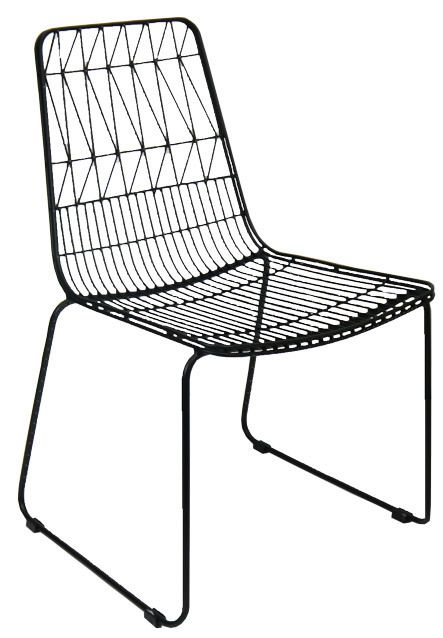 Net Outdoor Chair Bend Wire Lucy Dining Chairs Stackable Matt