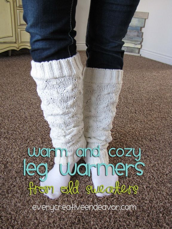 leg warmers out of sweaters