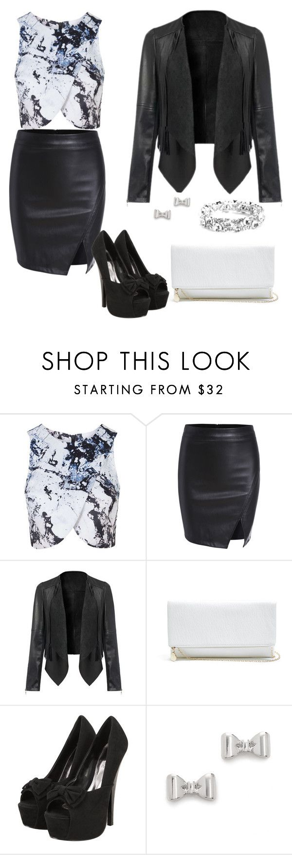 """""""Outwear#79"""" by elusiin ❤ liked on Polyvore featuring Topshop, GUESS and Marc by Marc Jacobs"""