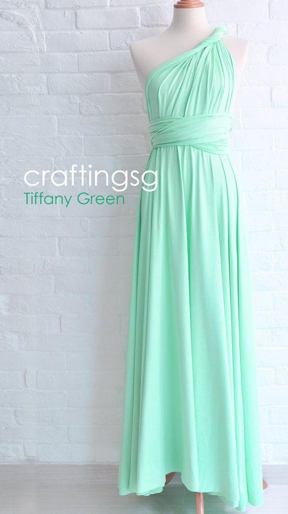 Bridesmaid Dress Infinity Dress Seafoam Green Floor Length Wrap ...