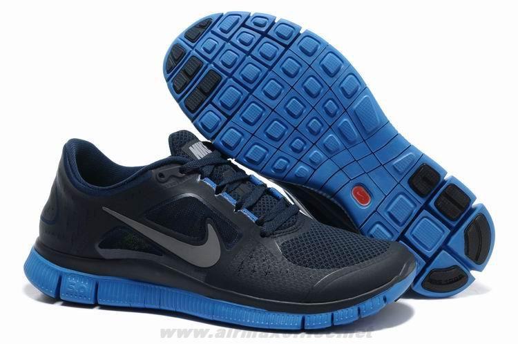 Nike Free Run 3 Light Midnight Game Royal Silver 510642-303 Mens