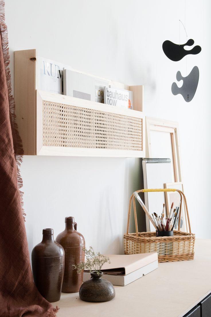 Photo of DIY Magazinhalter aus Holz mit Wiener Geflecht – craftifair