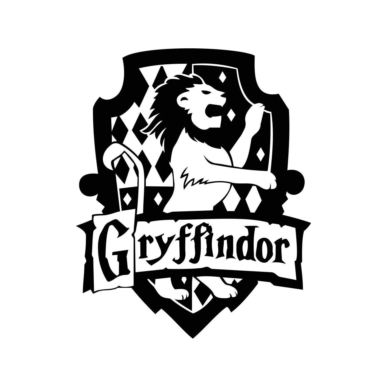 Car body sticker design eps - Gryffindor Harry Potter House Badge Crest Graphics Svg Dxf Eps Png Cdr Ai Pdf Vector Art Window Decalscar