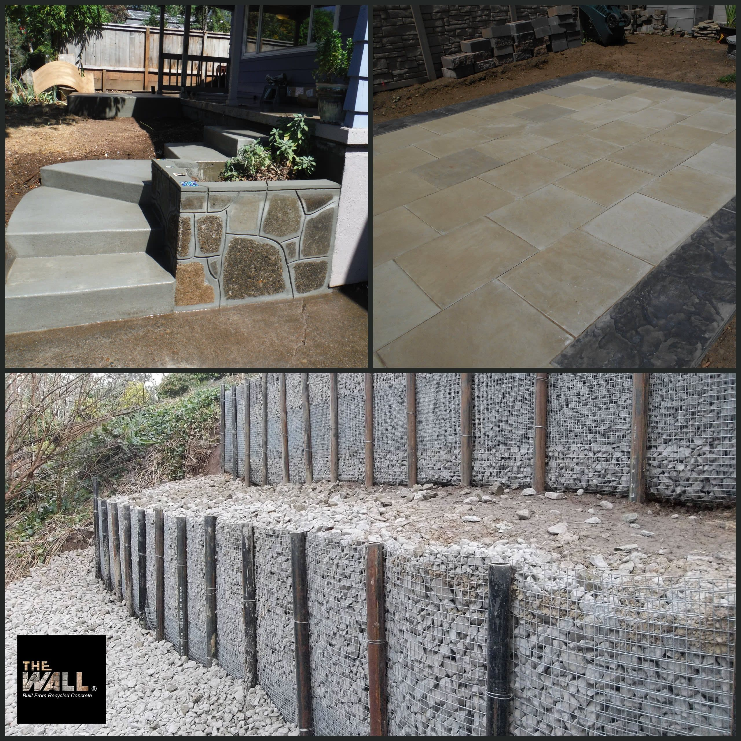 Pin Pile Walls Concrete Stairs Decorative Patios What Is Your Desire Landscape Gardening Lands Concrete Retaining Walls Retaining Wall Concrete Stairs
