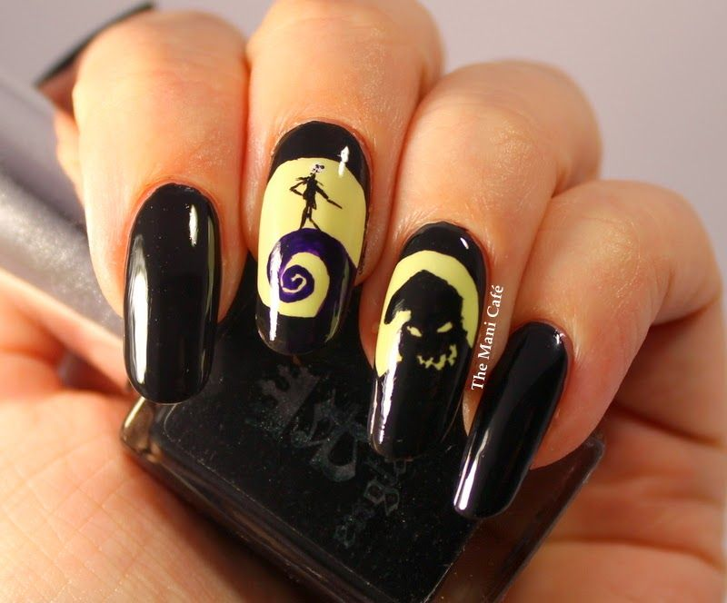 nightmare before christmas nail art - Google Search | LILLY | Pinterest