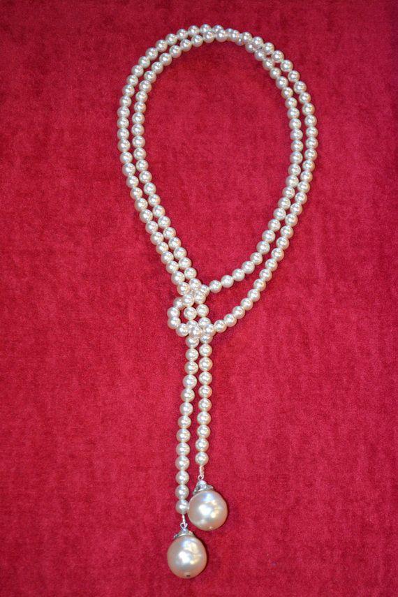 Pendientes de perlas de lujo antiguos de la década de 1920 joyas antiguas Rousselet Paris