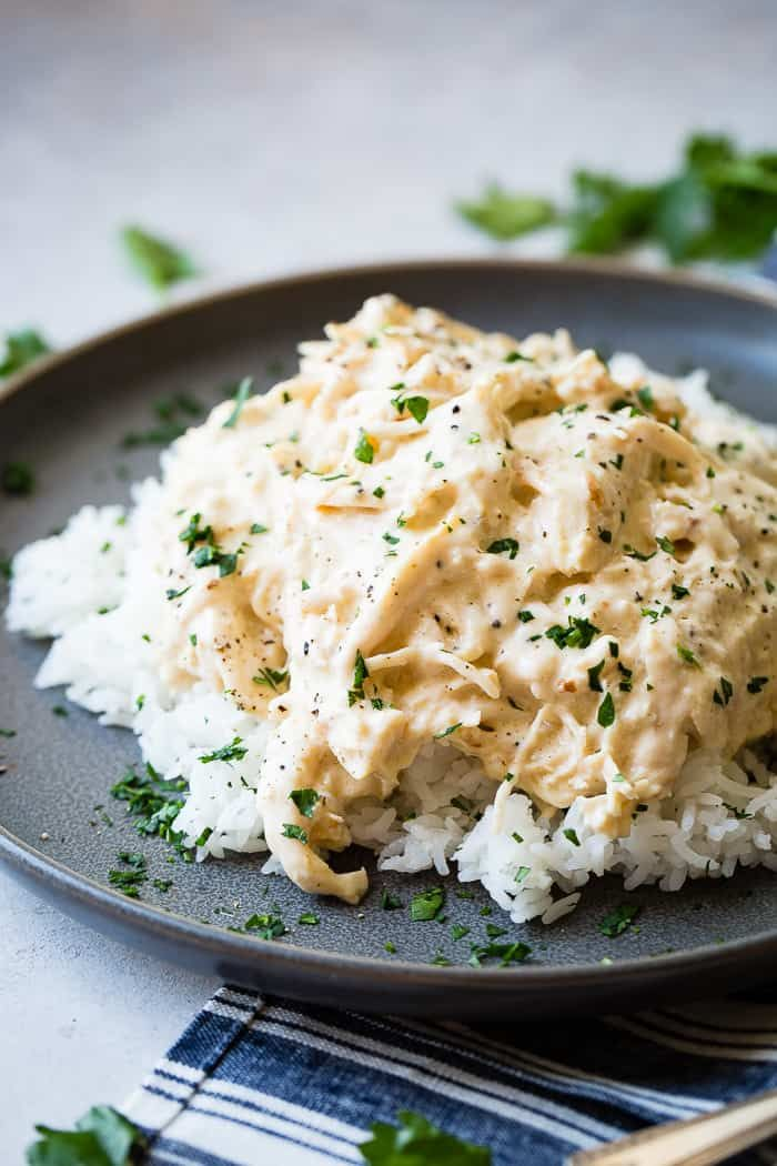 crockpot chicken and rice  recipe in 2020  healthy