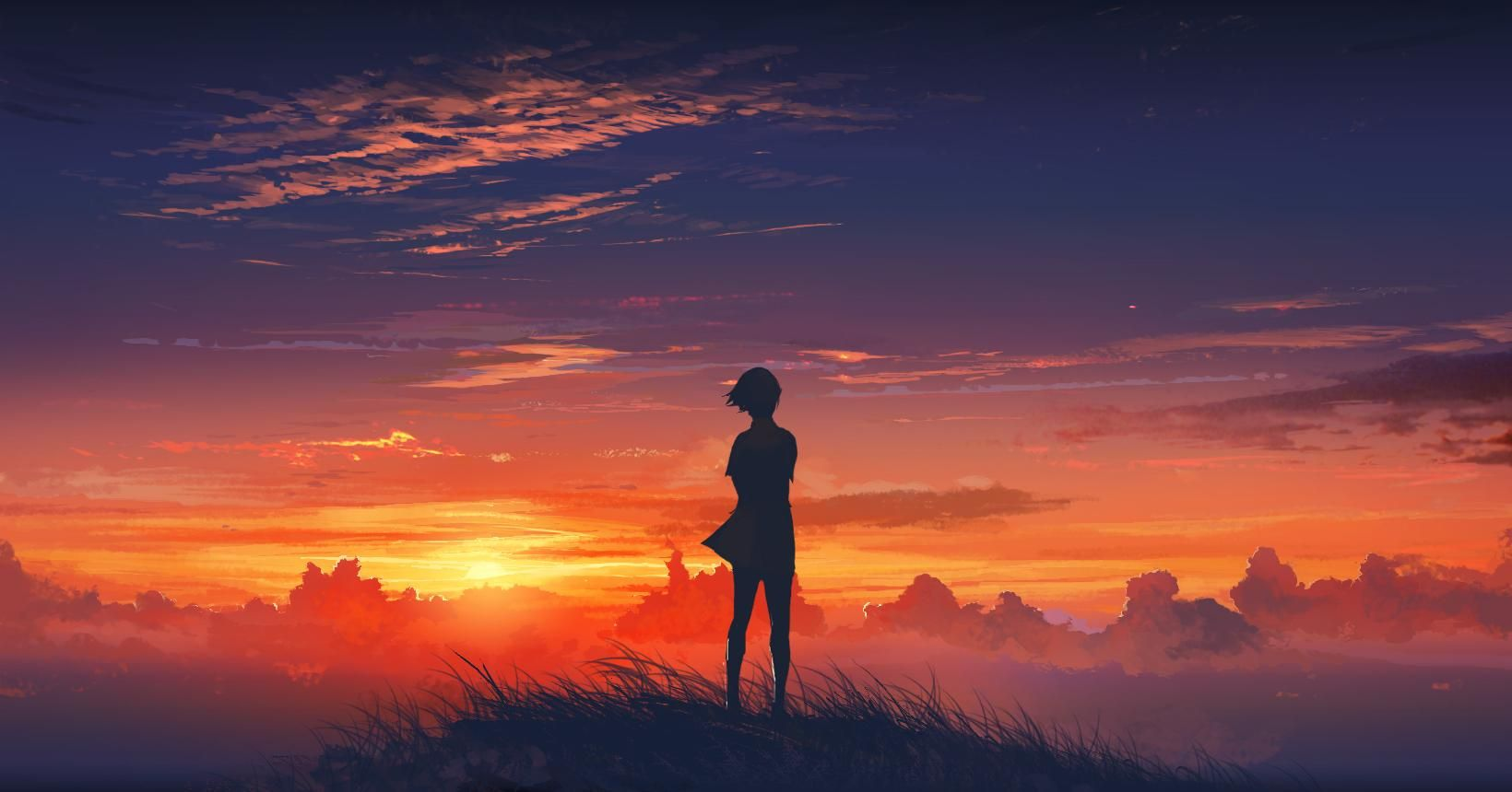 Sunset Anime Beautiful Art Anime Scenery Anime Scenery