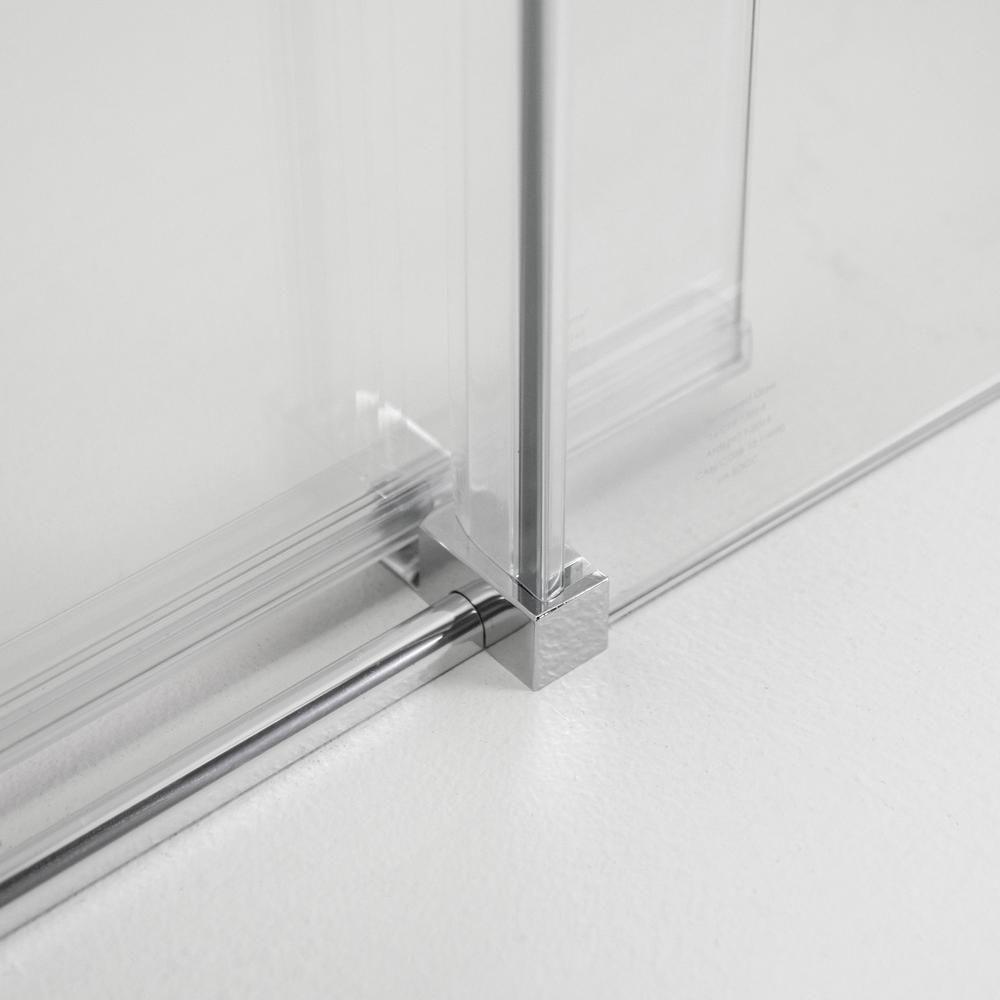 Amluxx Tidy 48 In X 78 In Frameless Sliding Shower Door In Chrome With 8 Mm Clear Glass Alndy9153 48 The Home Depot Framelessslidingshowerdoors In 2020 Shower Doors Sliding Shower Door Frameless Sliding Shower Doors