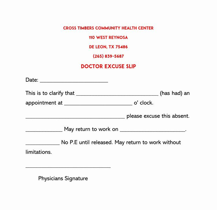 Doctor note template for work beautiful 36 free fill in
