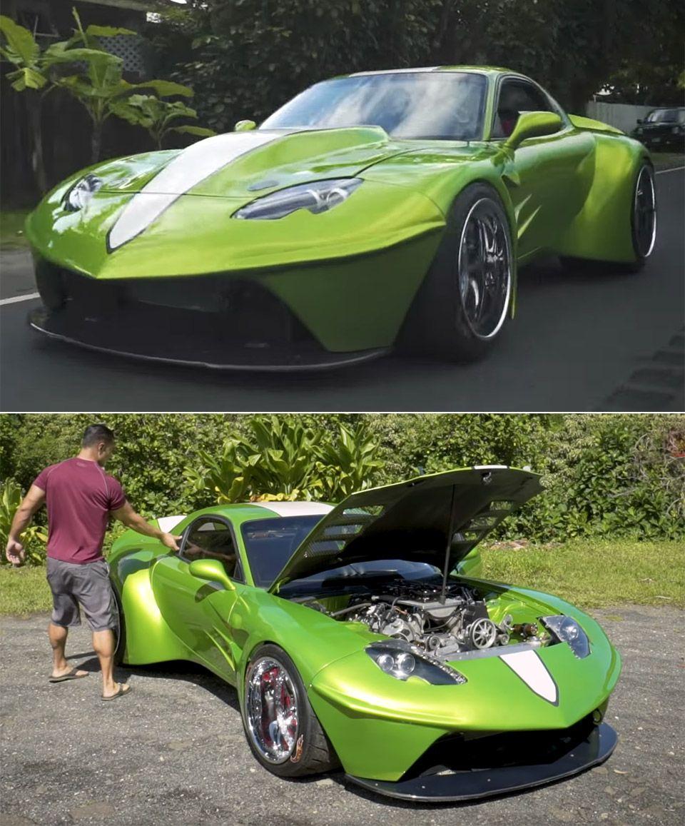 Man Custom Builds A 200mph Supercar Super Cars Futuristic Cars Custom Build