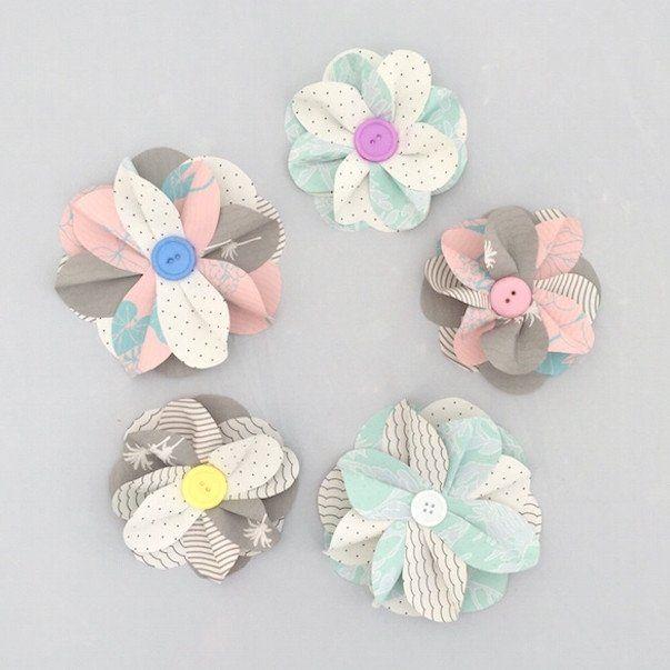DIY Paper Flower Kit, Pastel | Flower crafts | Pinterest | Diy paper ...