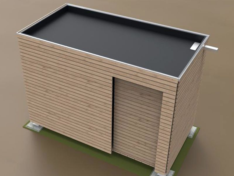 un abri de jardin contemporain et r volutionnaire en 2019. Black Bedroom Furniture Sets. Home Design Ideas