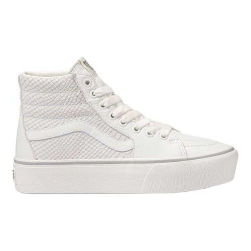 Vans SK8-Hi Platform 2.0 High Top - Leather Snake White Sneakers 624de3499