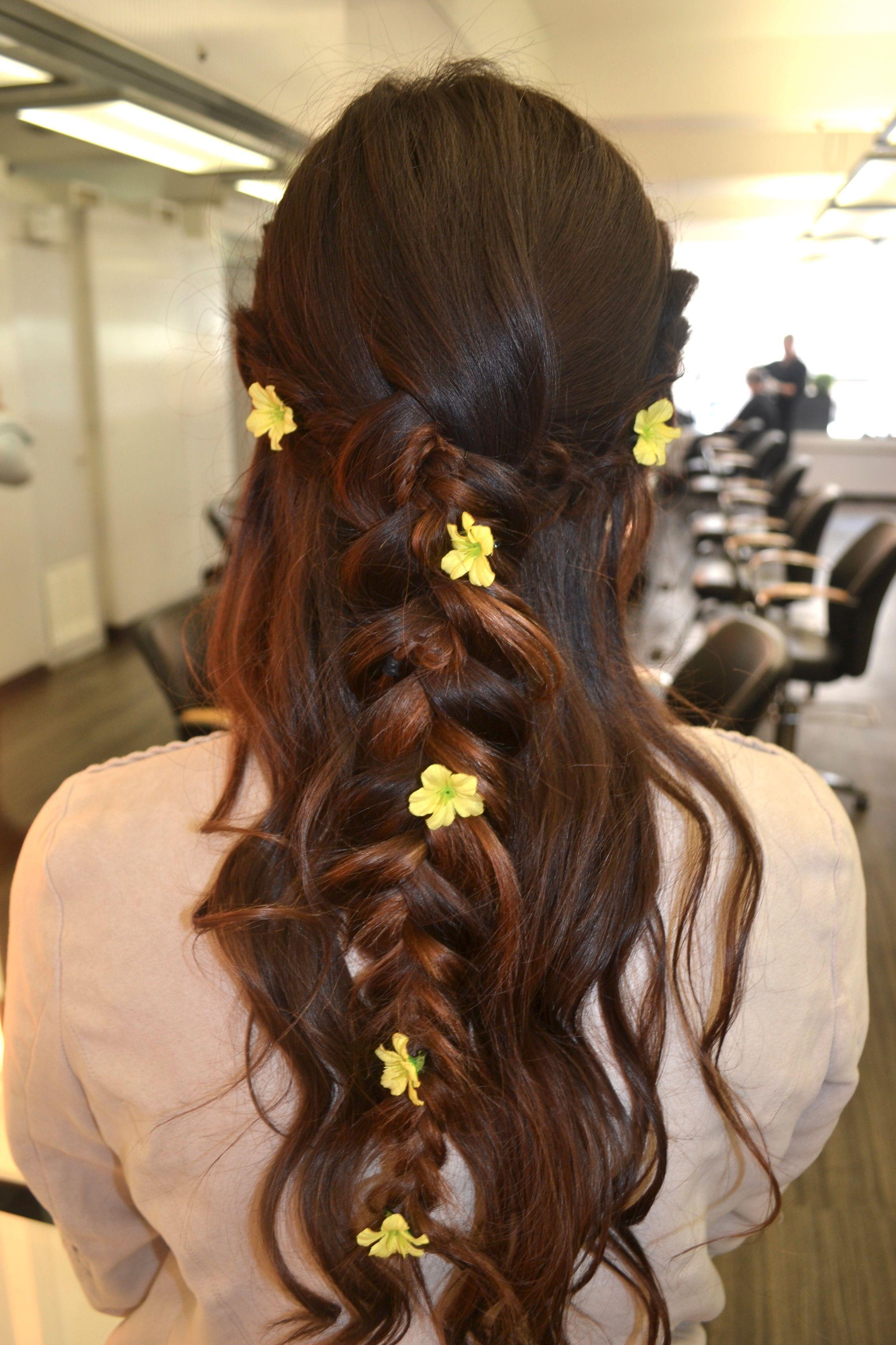 Diy Floral Hairstyles From Boston Salon Owner Style Life Fashion By Kwest1908 Bridesmaid Hair Updo Braid Crown Braid Bohemian Hair Crown