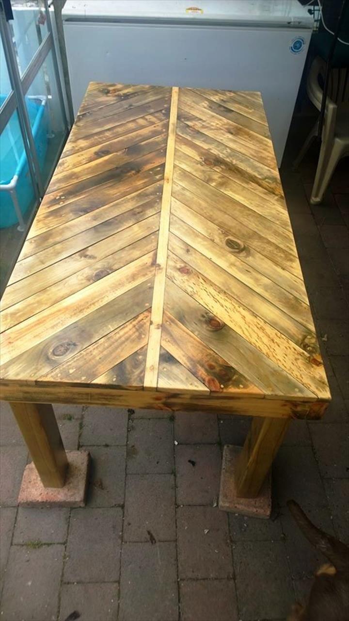 Herring Bone Style Pallet Coffee Table Jpg 720 1 280 Pixels Pallet Patio Furniture Diy Pallet Furniture Diy Pallet Furniture Outdoor