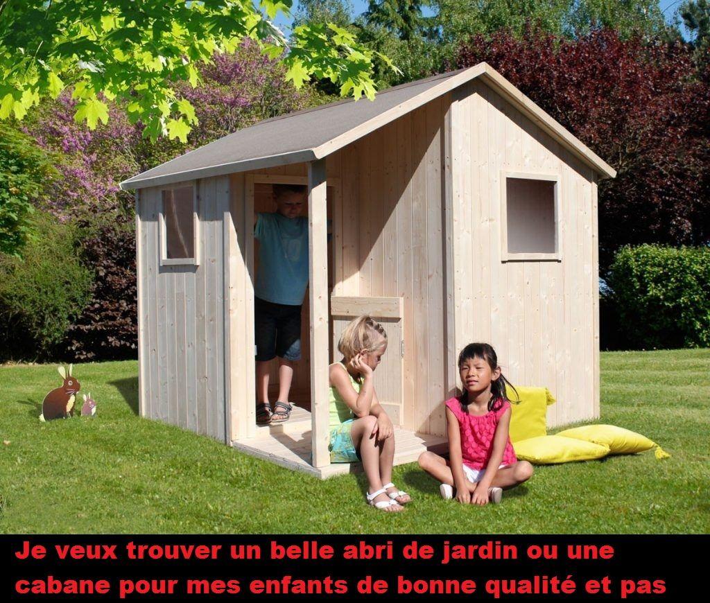 maisonnette en bois cabane jardin