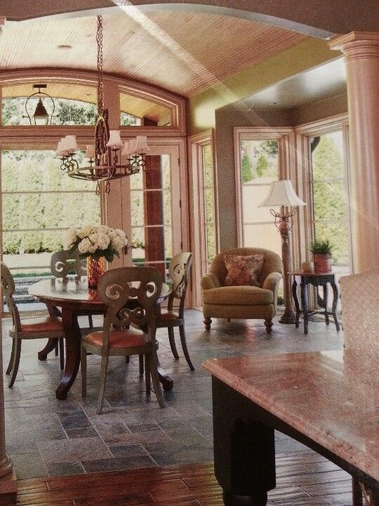 If we ever turn our porch into a sunroom   Outdoor spaces ...