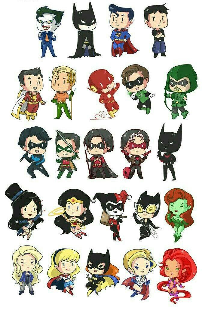 DC Cómics kawaii   dibujos cartoon network   Pinterest   Comics ...
