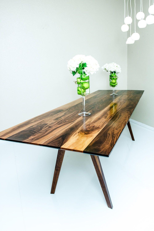 Dining Table Mid Century Modern Walnut
