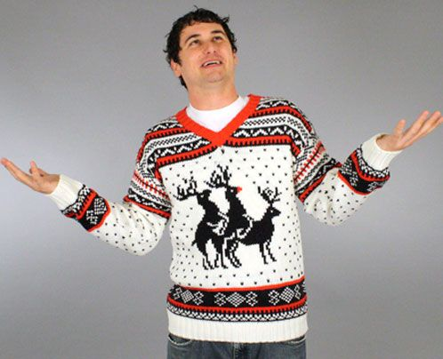 Reindeer Threesome Sweater (ft. Rudolph) Vintage - Skedouche