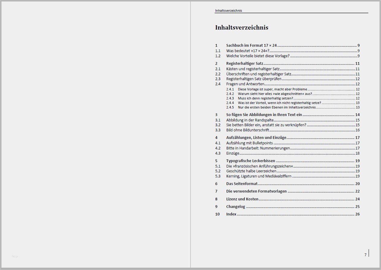 Inhaltsverzeichnis Hausarbeit Tipps Zur Richtigen Gestaltung 8