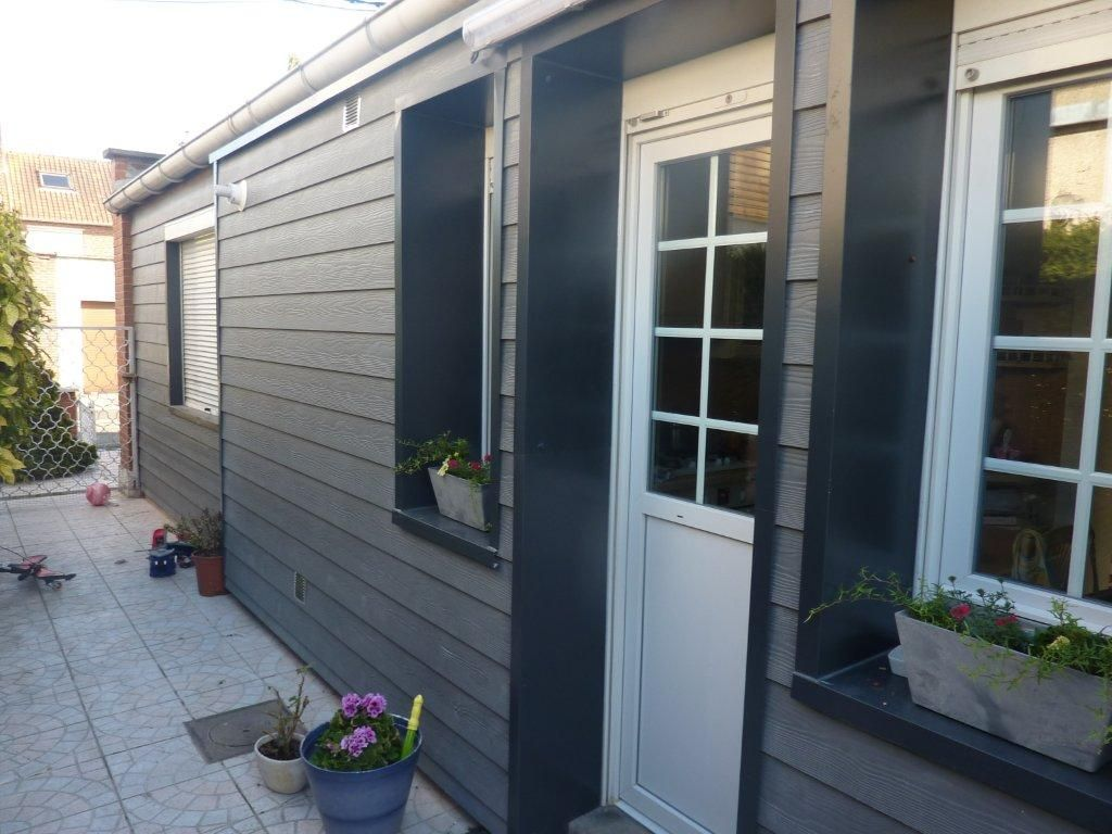 Bardage noir et gris bardage pinterest house for Allure cement siding