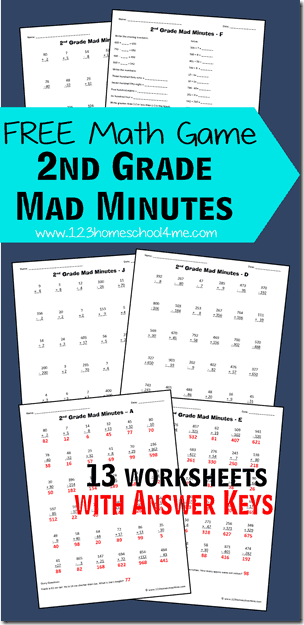 Free 2nd Grade Math Worksheets 2nd Grade Math Worksheets Free Math Free Math Games