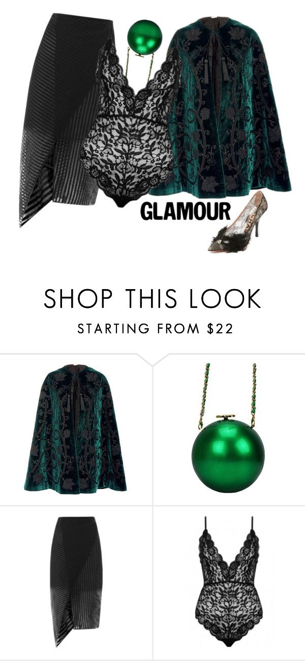 """Black lace"" by didesi ❤ liked on Polyvore featuring Talitha, Erdem and Rochas"